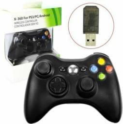 Controle Sem Fio Para PC, Notebook, Xbox 360 e Android