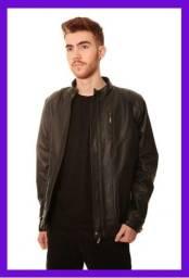 Título do anúncio: Jaqueta de Couro Masculina 100% Legítimo Original - Modelo Argelis