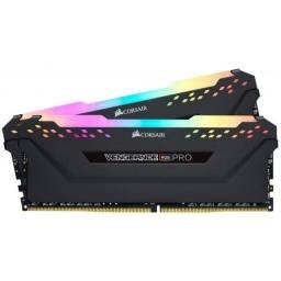 Título do anúncio: Memória Corsair Vengeance RGB Pro, 16GB (2x8GB), 3000MHz, DDR4, CL15 - CMW32GX4M4C3000C15
