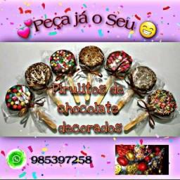 Título do anúncio: Pirulitos de chocolate com recheio