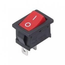 (WhatsApp) chave gangorra 2t 3a 250v mini vermelho k10