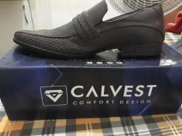 Vendo sapato masculino couro calvest