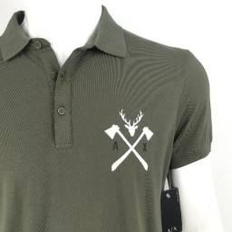 9d332fed66 045 Camisa Camiseta Polo Armani Exchange Army Original Importada G