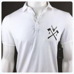 86269ce59c 47 e 48 Camisa Camiseta Polo Empório Armani Exchange Branca Original  Importada P E GG