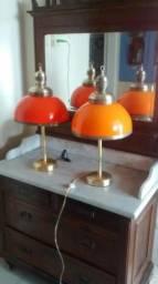 Luminárias anos 60 peças únicas originais