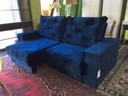 Sofá retrátil e reclinável de molas ensacadas!