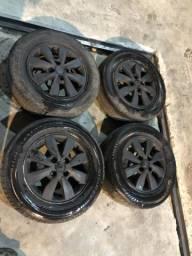 Jogo de rodas hb20 com pneus aro 14