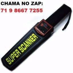 Detector de Metal Profissional Manual Portátil Super Scanner c/ Coldre (Novo)