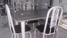 Conjunto de Mesa 04 Cadeira Tampo Granito