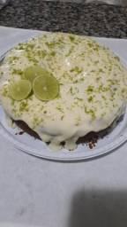 Bolo vulcão de limão