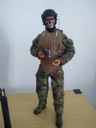 Boneco militar escala 1/6 articulado