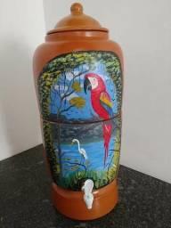 Filtro De Barro/ Cerâmica Pintura Amazônica 16 Litros