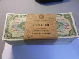 Notas Antigas De 10 Cruzeiros Sequenciais/colecionismo