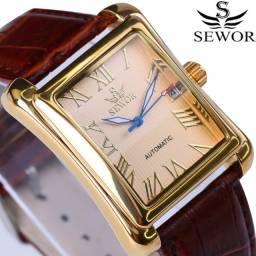Sewor relógio de pulso, novo top marca de luxo automático moda masculina classica