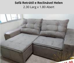 Dia de Ofertas - Sofá Hellen com 2,30m de Largura - Só R$1.699,00