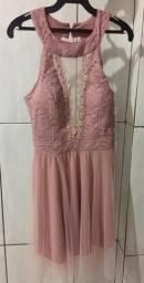 Vestido de Festa Rosa Curto
