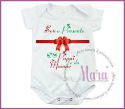 Roupinha de Bebe personalizada Body, Mesversario, Primeiro Mes Dindinha