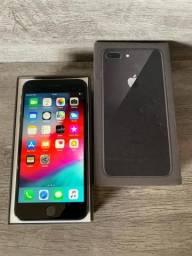 IPhone 8 Plus Preto 64 Gigas Completo Sem Defeitos Divido No Cartão