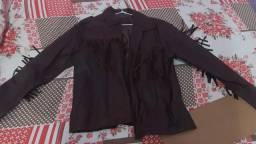 Jaqueta de couro tipo calboy