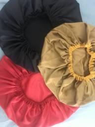 Touca toalha e touca de cetim