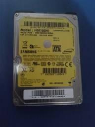 HD de notebook 160gb e 500gb com defeito