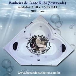 Título do anúncio: Banheira de Canto Rubi Spa Ofurô Hidromassagem Aquecedor Cromoterapia