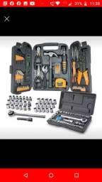 Maleta de ferramentas 129Pçs + Maleta de chaves 40Pçs