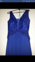 Vestido longo festa - Azul Royal