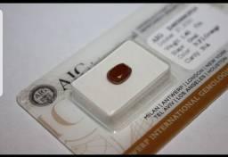 Diamate 100% na cor laranja extravagante, peso 1,40ct  R$ 1.656,69