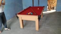 Mesa Tentação e Jantar Cor Cerejeira Tecido Vermelho Mod. ORSB7394