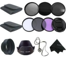 Kit de filtros de lente 58mm  18-55 ou 55-250