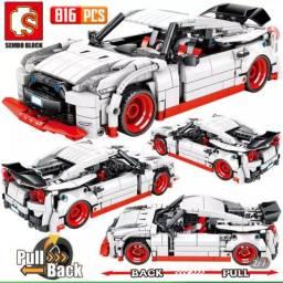 Blocos tipo Lego Technic, Nissan Car Racer, 816 peças, novo