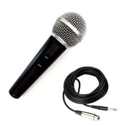 Microfone Dinâmico Profissional Com Fio de 5m LE-903 - Lelong