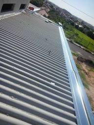 Telhas telhados zinco calhas galvanizada perfil 75 metalom - vespasiano e regiao