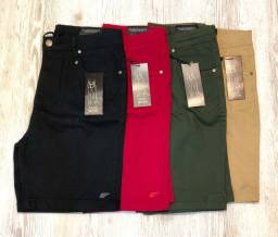Bermudas jeans e coloridas