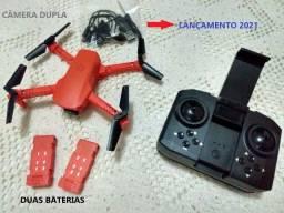 Título do anúncio: Drone k9 pro mini laranja 2 baterias 4khd câmera dupla wifi fpv retorna com um toque