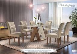 Promoção de Agosto - Mesa de Jantar Belle - 6 Cadeiras