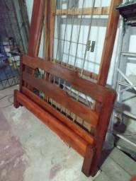 Cama de casal madeira macacauba