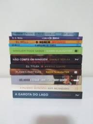 11 livros, flores partidas, karin slaughter, charlie donlea