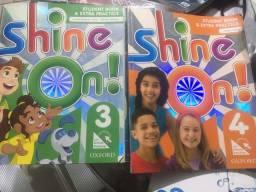 Título do anúncio: livros de Inglês Shine 3 e 4
