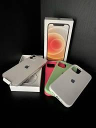 Título do anúncio: iPhone 12 256gb Branco (novo - nota fiscal e 11 meses de garantia)
