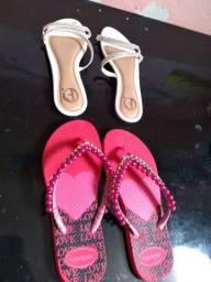 2 sandálias diversas n° 39.