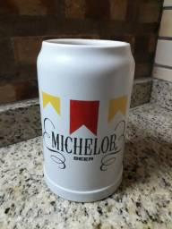 Lindo Caneco de Chopp Michelob Beer Ceramarte.
