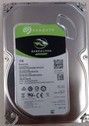 HD 1TB Seagate BarraCuda Interno 3.5'' desktop SATA3 ST1000DM010 7200RPM - Nova