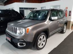 Jeep renegade automática limited 6 marchas banco de couro multimídia único dono 2018