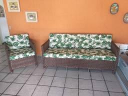 Conjunto de sofá quadrado
