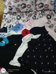 Sete camisas de marca tamanho M
