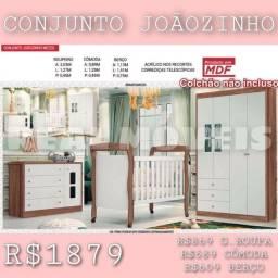 Quarto infantil Joãozinho (G. Roupa / Cômoda e berço)