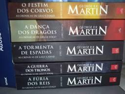 Coleção Guerra dos Tronos George R. R. Martim - 5 livros