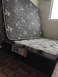 Cama Box com colchão s/ pezinhos